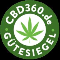CBD360 Gütesiegel Footer