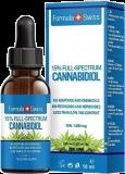 Formula Swiss Bio Hanf CBD Öl Vollspektral Tropfen mit Hanfsamenöl