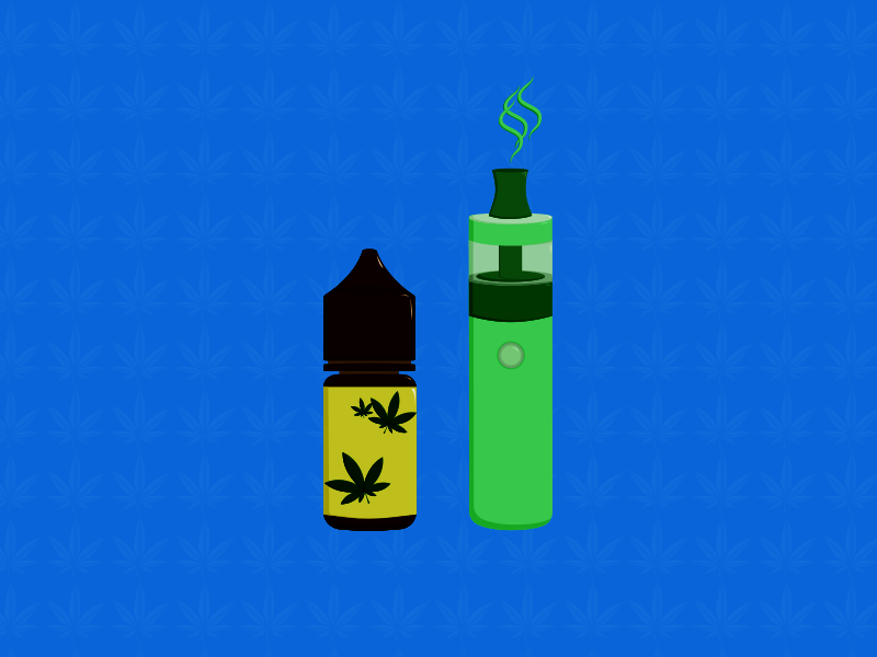 Illustration zu CBD Liquid