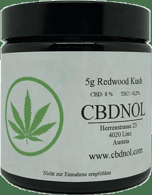 CBDnol CBD Blüten Redwood Kush 5g