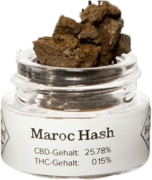 Hanf im Glück CBD Pollinat Maroc Hash