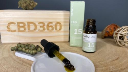Natucan CBD Öl Curcumin Piperin Farbe