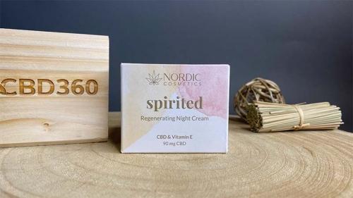 Nordic Cosmetic CBD Nachtcreme Spirited